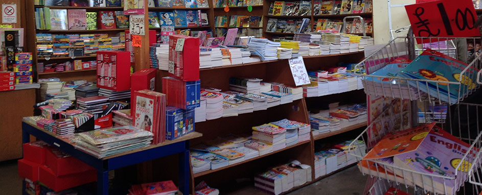 magazine and book stall banner